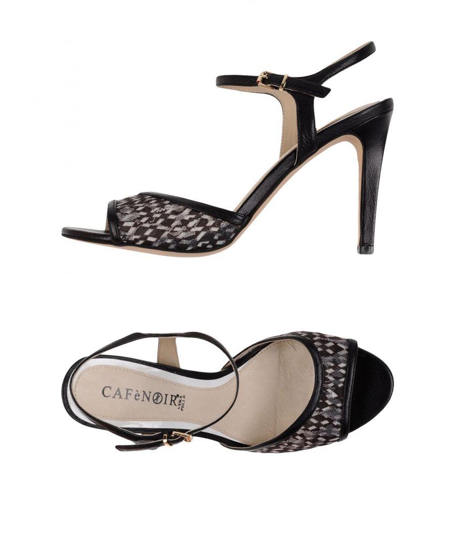 Image for Cafènoir Black Leather Sandals