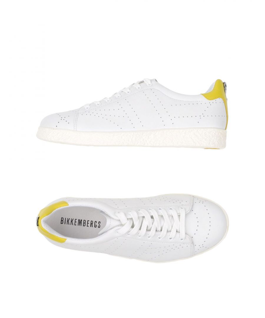 Image for Bikkembergs White Leather Sneakers