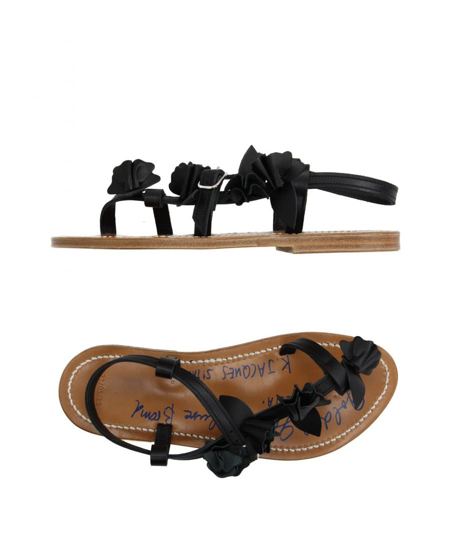 Image for Golden Goose By K.Jacques St. Tropez Black Leather Flat Sandals