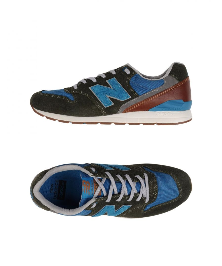 Image for New Balance Military Green Leather Sneakers