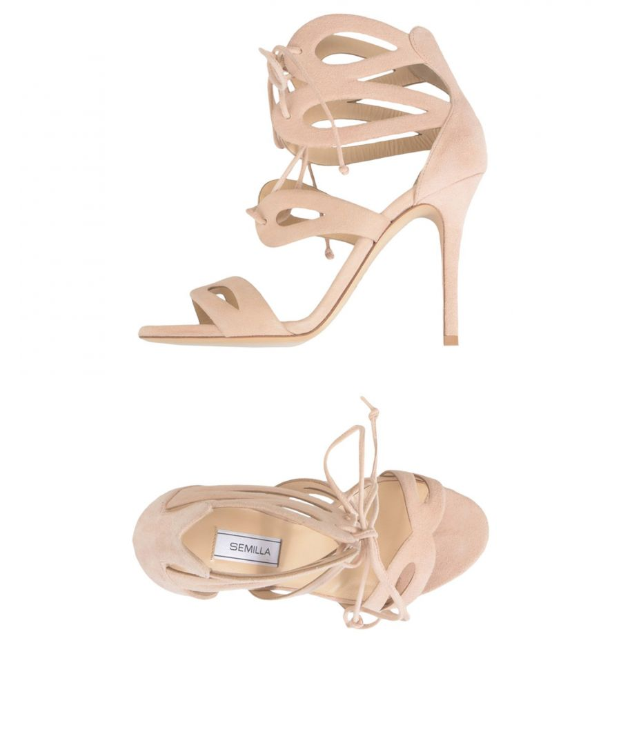 Image for Semilla Pale Pink Leather Heeled Sandals