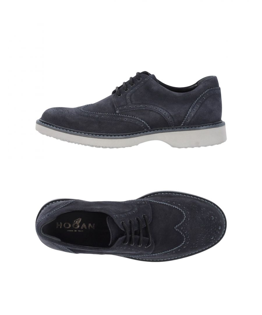 Image for Hogan Dark Blue Leather Lace Up Shoes