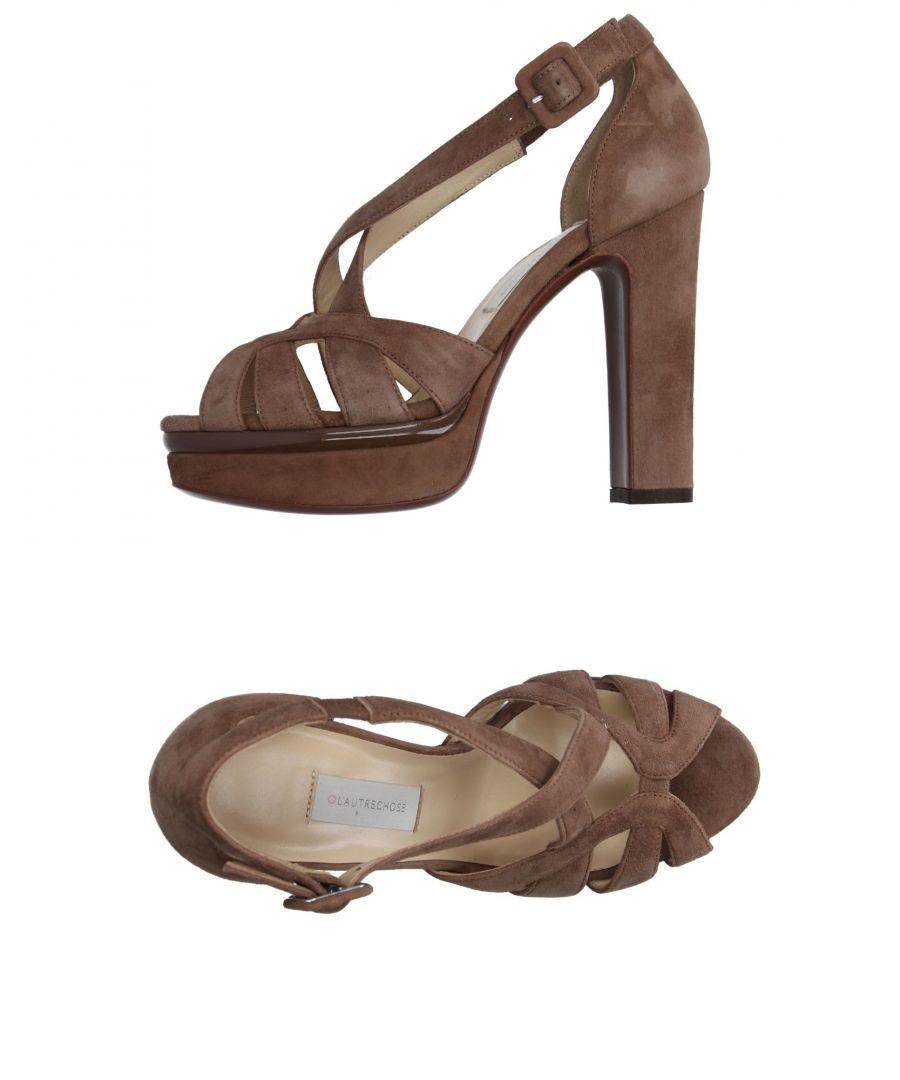 Image for L' Autre Chose Khaki Leather Heeled Sandals
