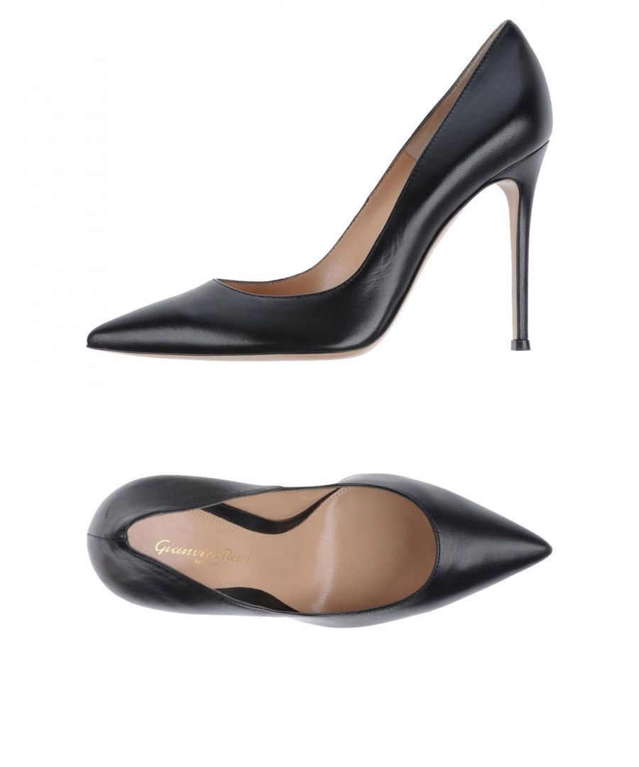 Image for Gianvito Rossi Black Nappa Leather Pointed Court Shoe Heels
