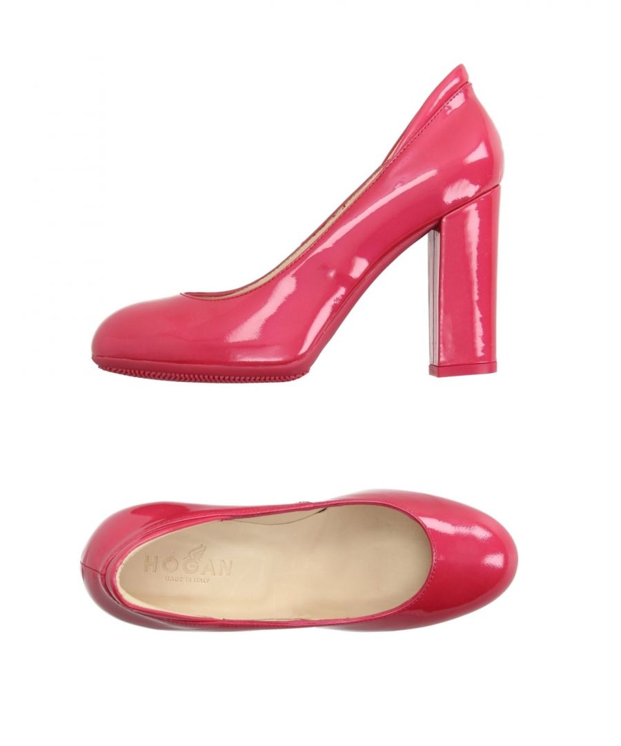 Image for Hogan Fuchsia Varnished Effect Heels
