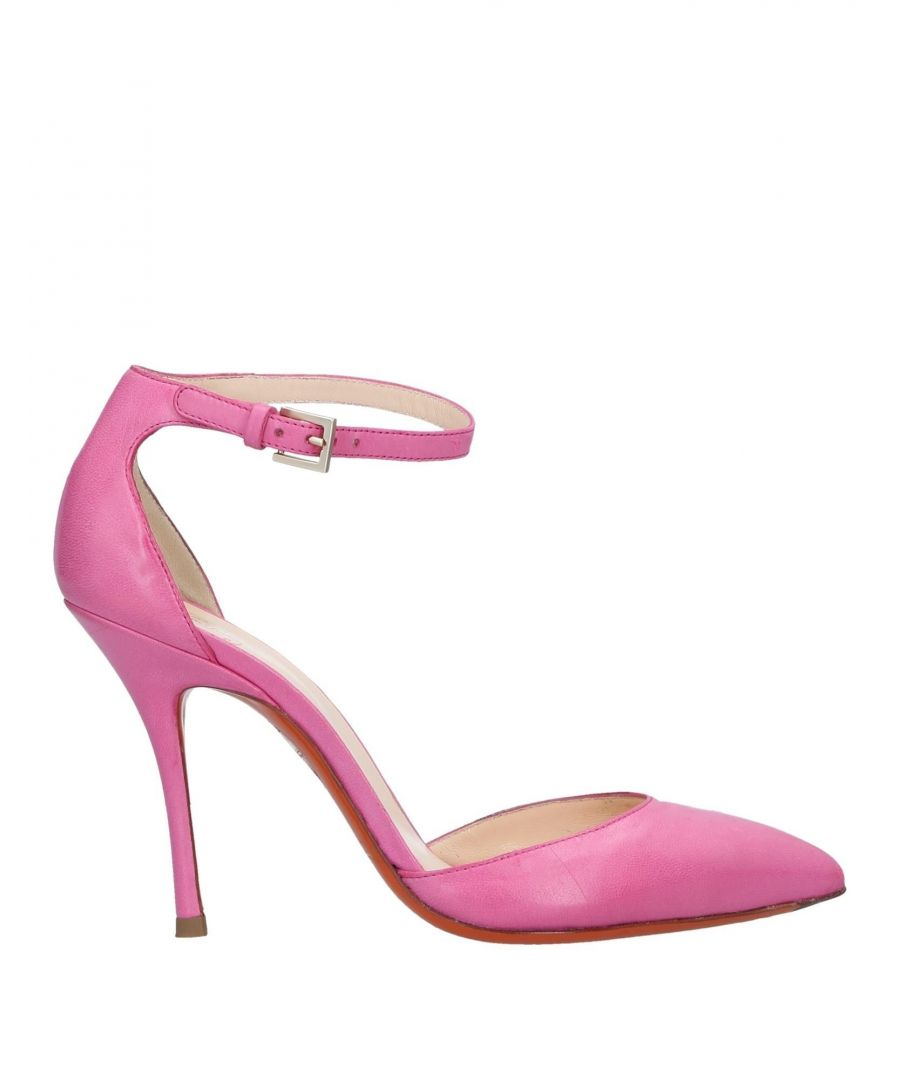 Image for Santoni Pink Leather Heels