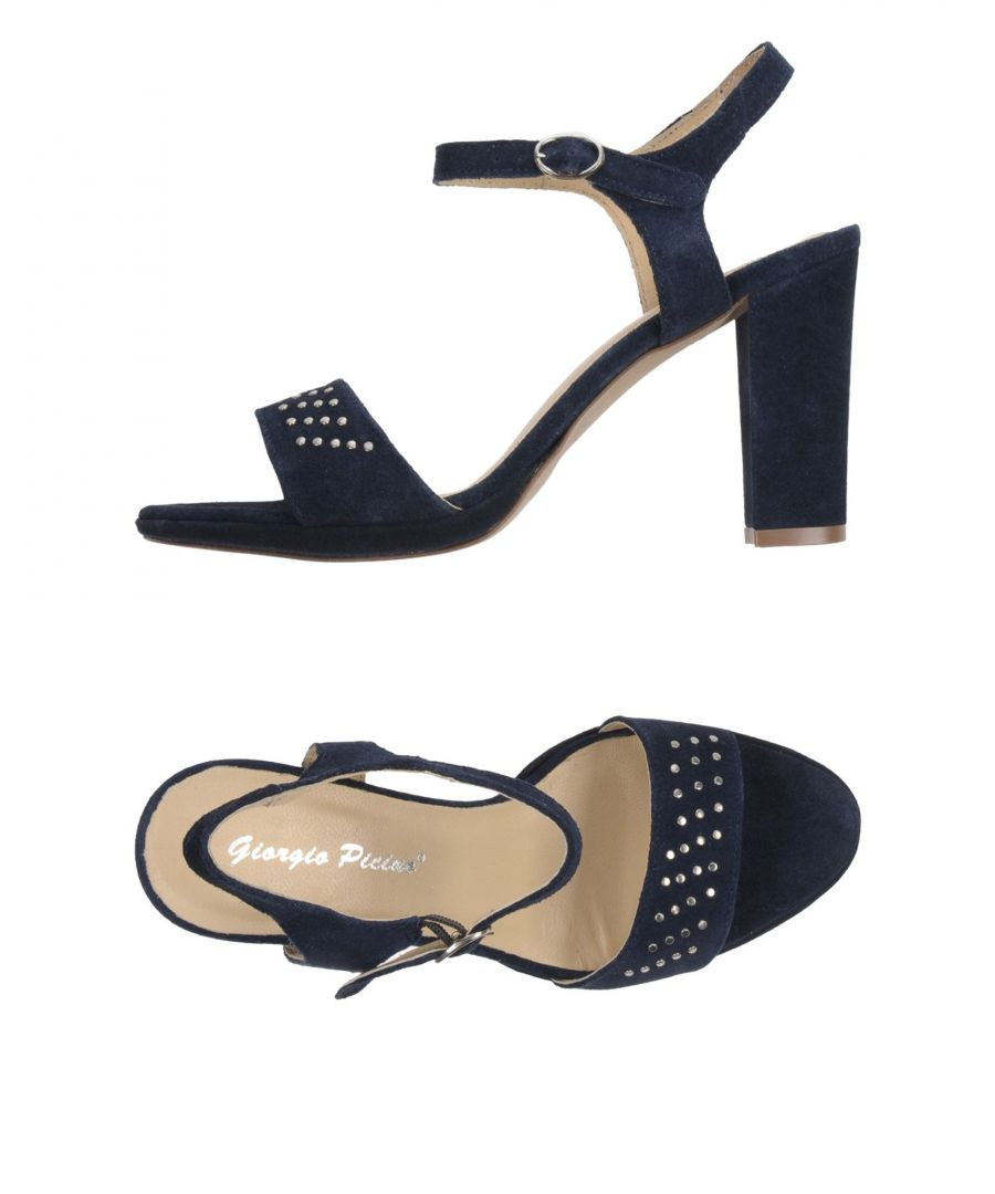 Image for Giorgio Picino Dark Blue Leather Heeled Sandals
