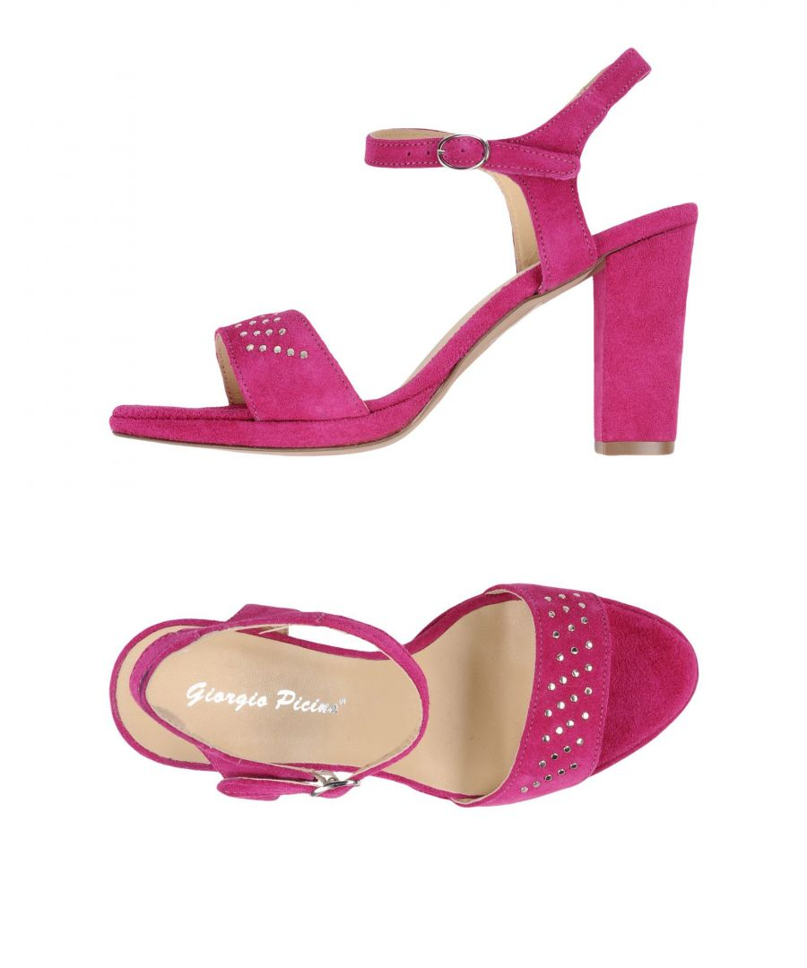 Image for Giorgio Picino Fuchsia Leather Heeled Sandals