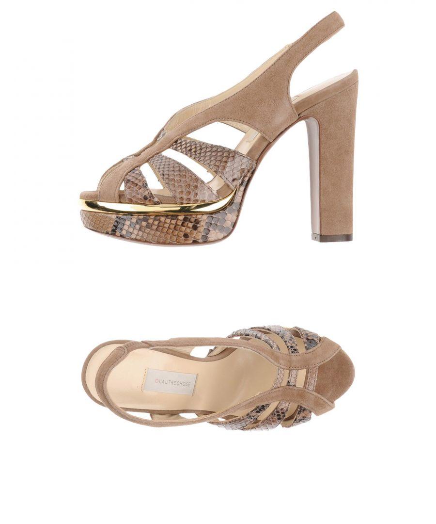 Image for L' Autre Chose Khaki Reptile leather Sandals