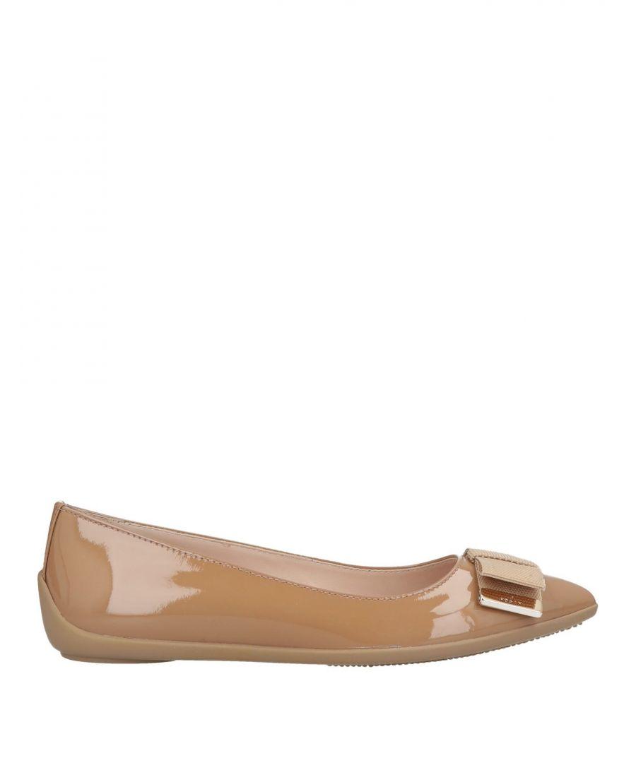 Image for Hogan Camel Leather Ballet Flats