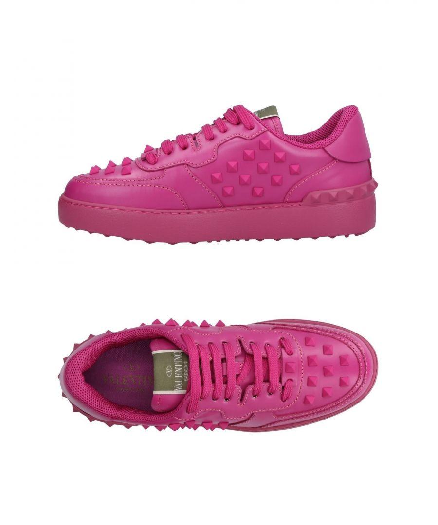 Image for Valentino Garavani Fuchsia Leather Sneakers
