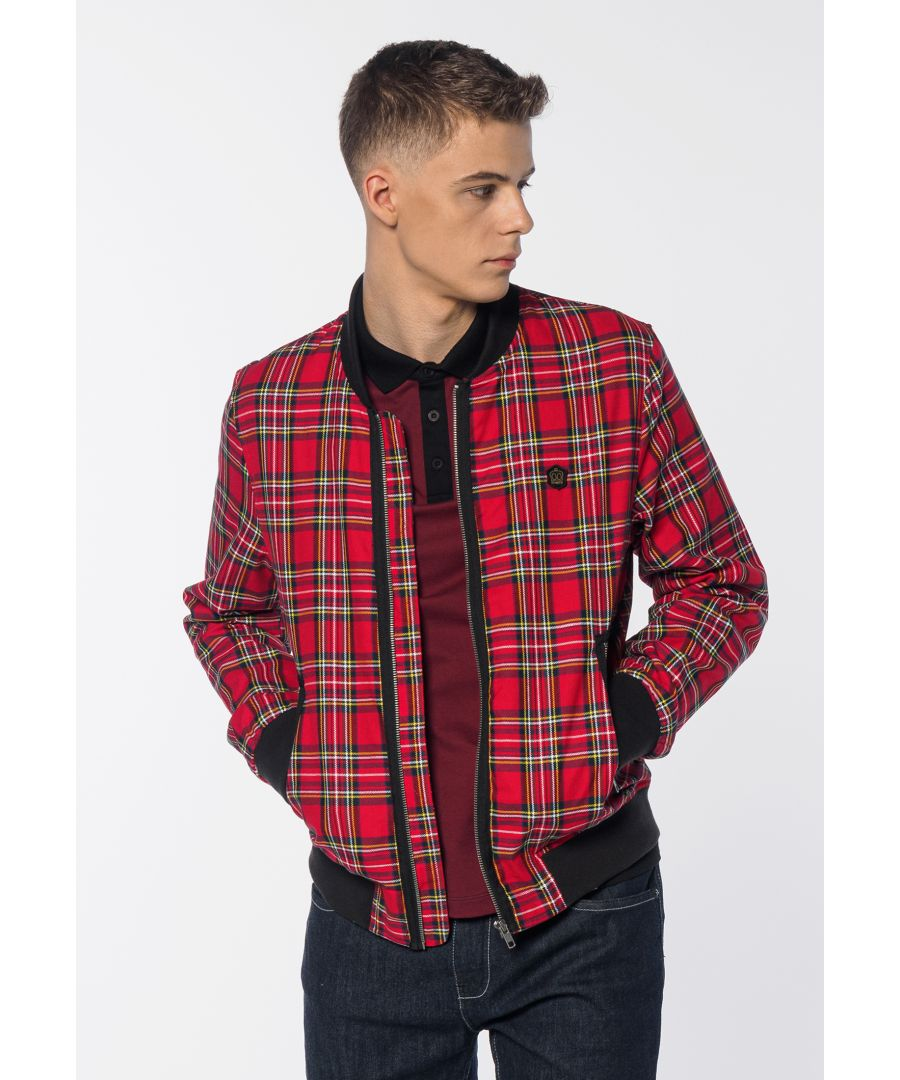 Image for Ainslie Tartan Men's Bomber Jacket in Red