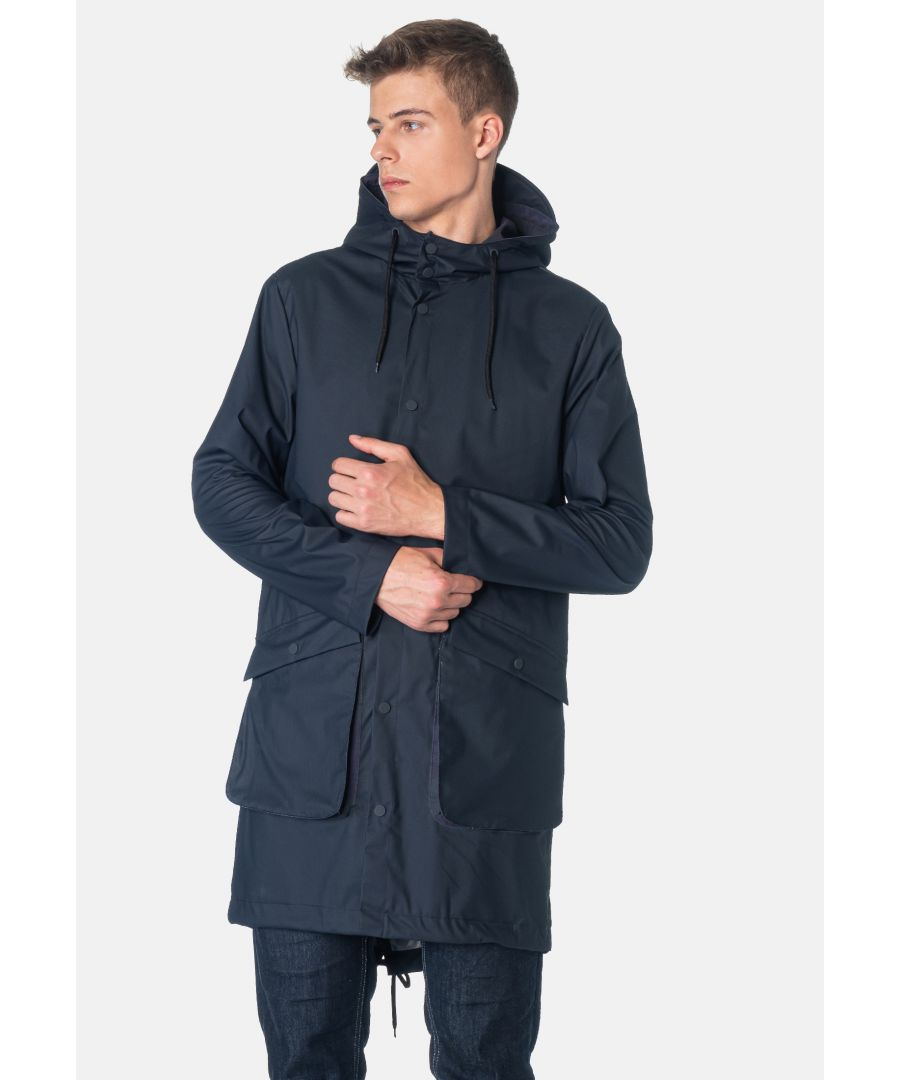 Image for Fitzroy Men's Fishtail Raincoat parka in Dark Navy