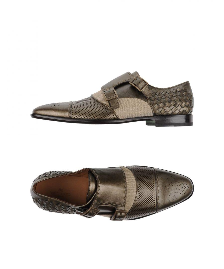 Image for Etro Bronze Leather Double Monkstrap Shoes