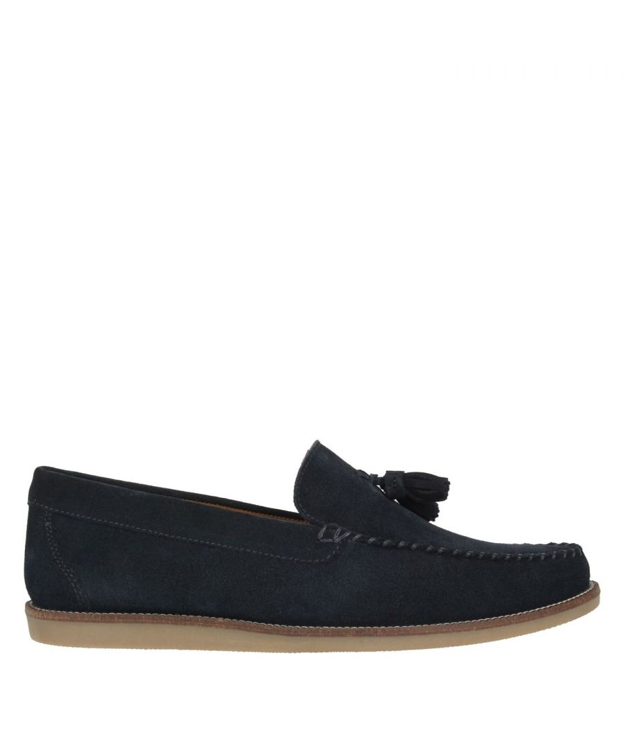 Image for Firetrap Mens Giedo Loafers Slip On Shoes Tonal Stitching Leather Smart