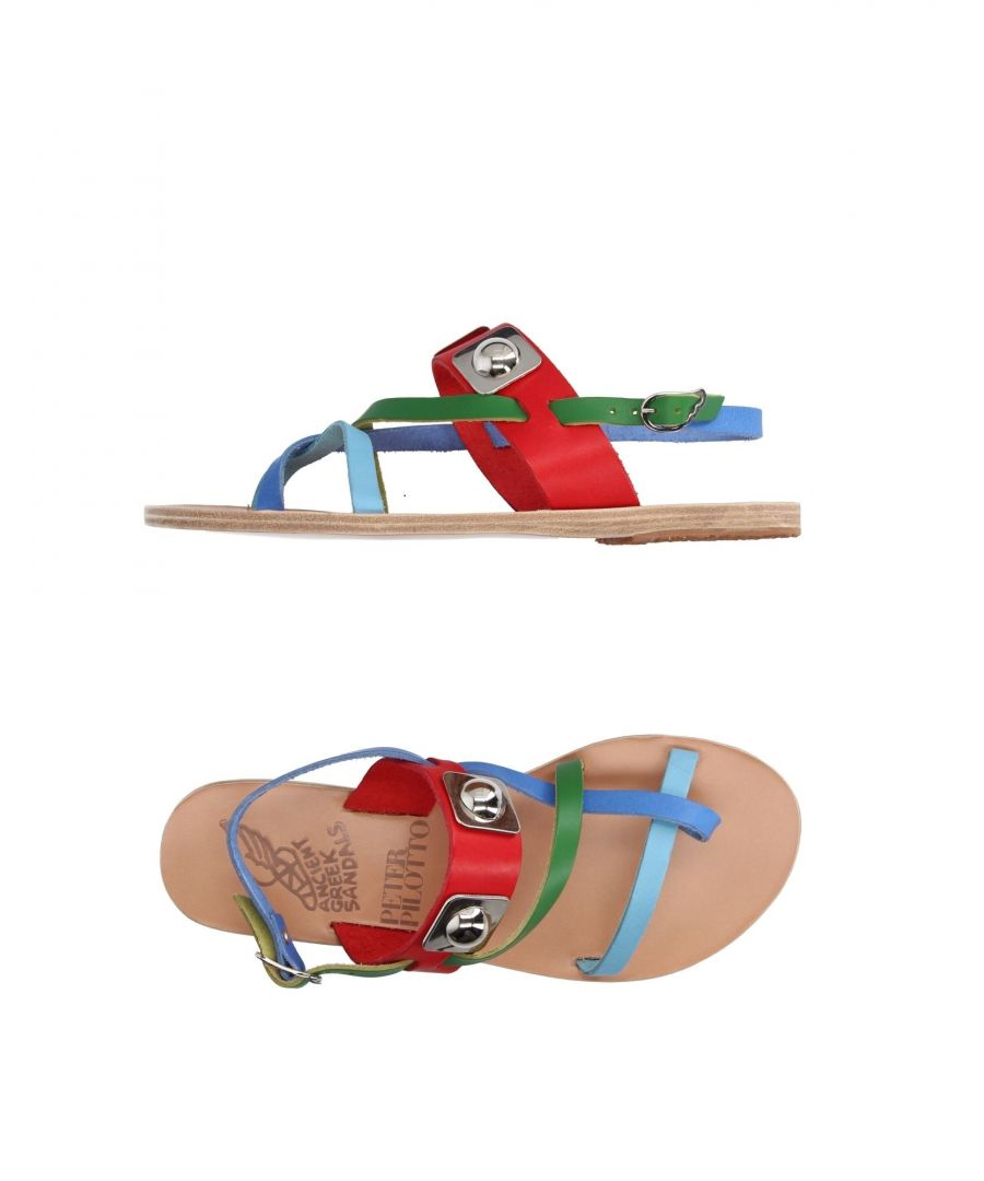 Image for Ancient Greek Sandals X Peter Pilotto Red Leather Sandals