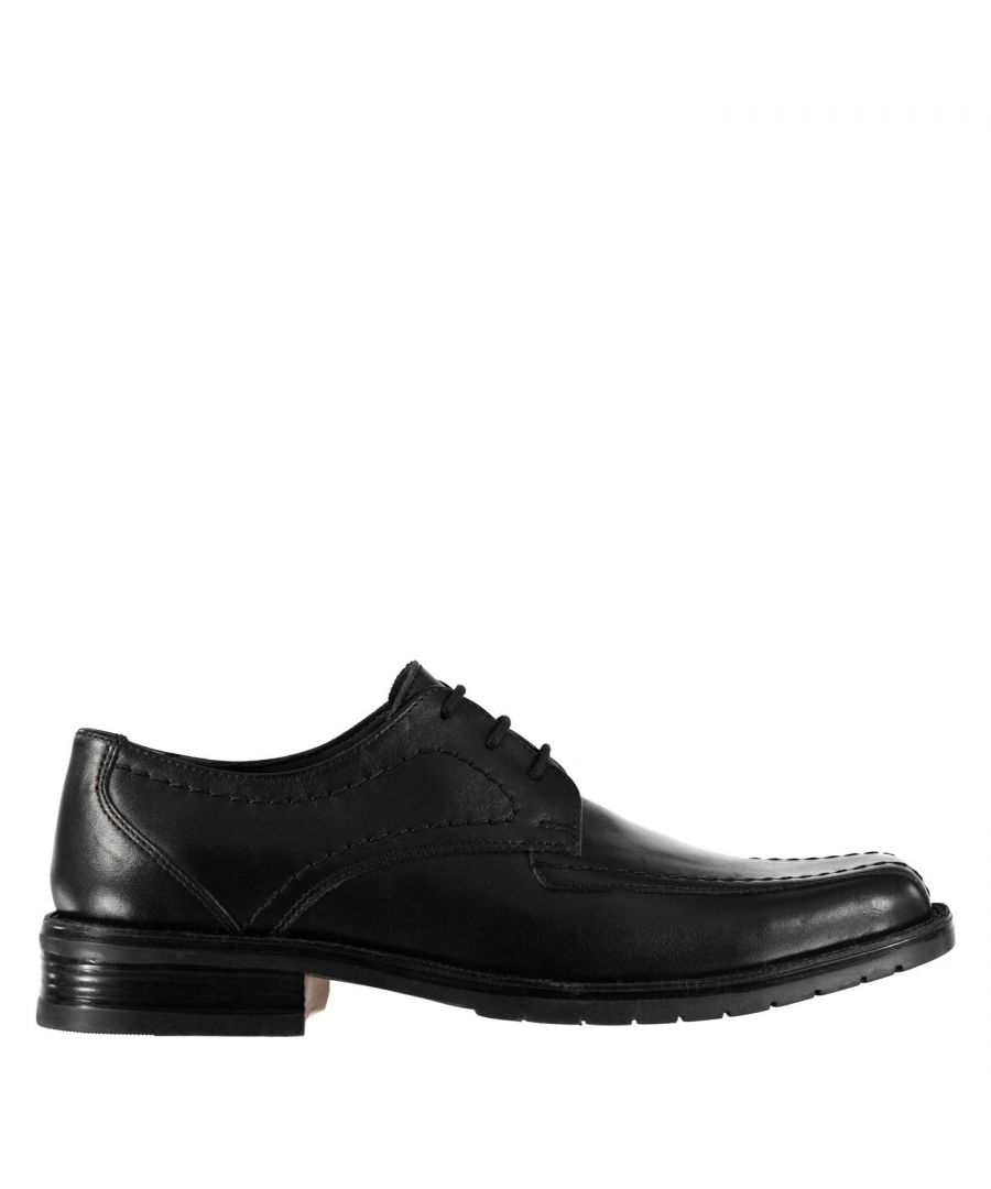 Image for Kangol Mens Glinton Lace Up Shoes Derby Slight Heel Formal Tonal Stitching