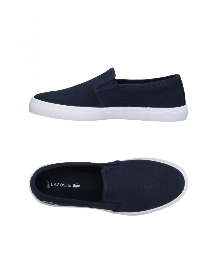 Image for Lacoste Dark Blue Canvas Slip Ons