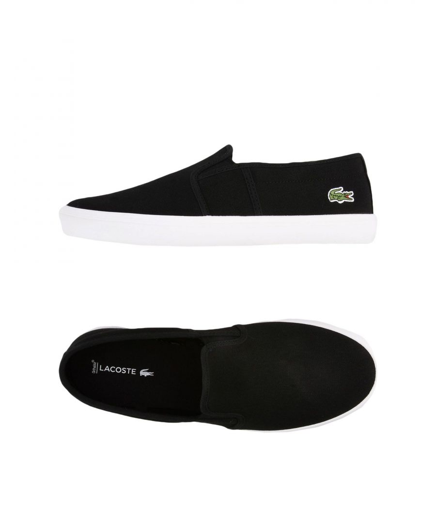 Image for Lacoste Black Canvas Slip Ons