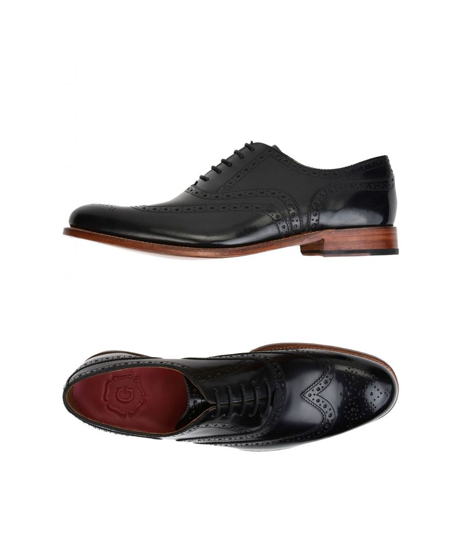 Image for Grenson Black Leather Lace Up Shoes