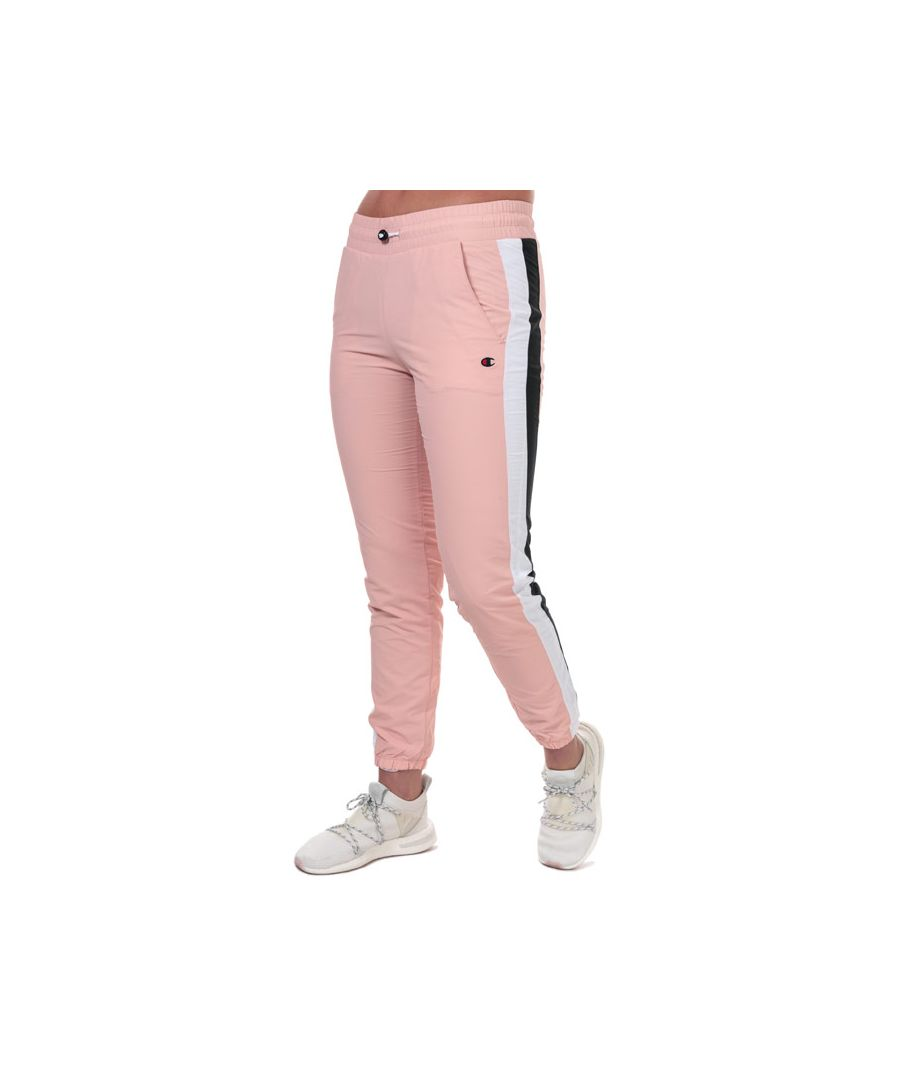 Image for Women's Champion Two Tone Stripe Seam Track Pants in Pink
