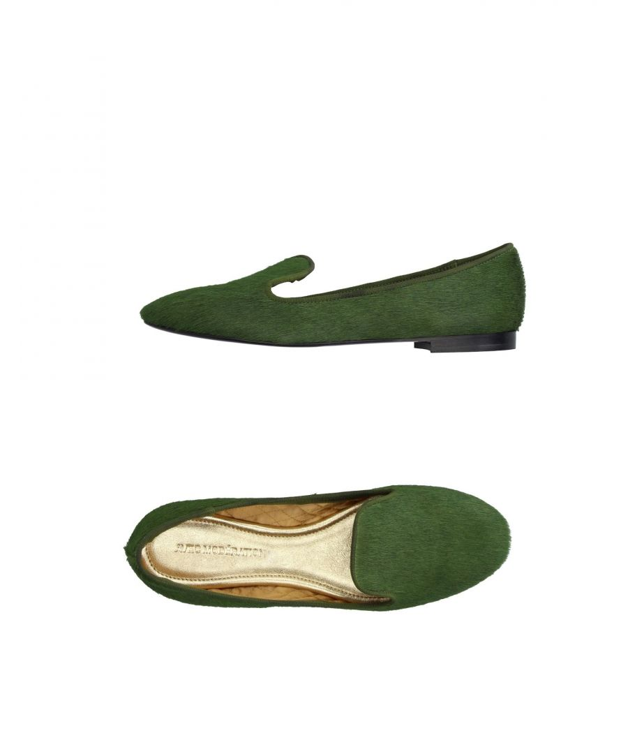 Image for Avec Moderation Military Green Leather Loafers