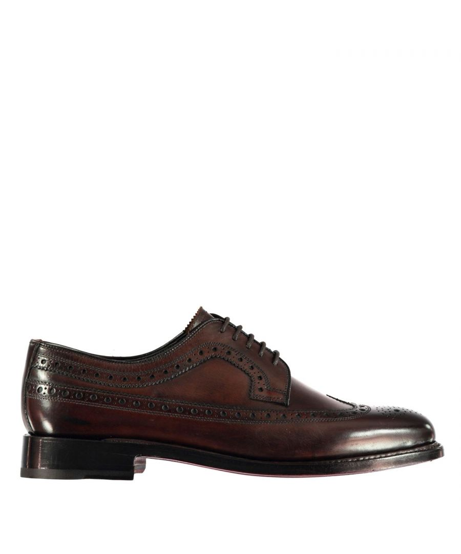 Image for Firetrap Mens Blackseal Preston Shoes Brogues Lace Up Tonal Stitching Brogue