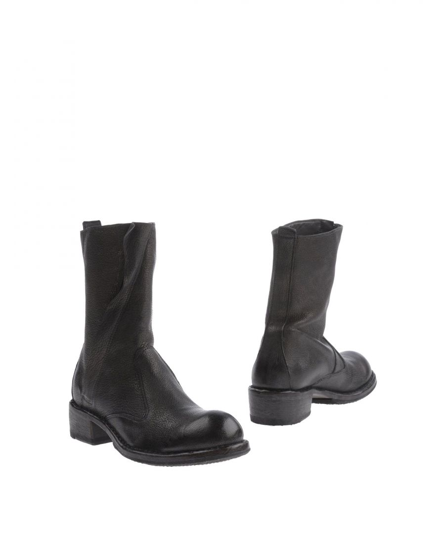 Image for Moma Steel Grey Leather Boots