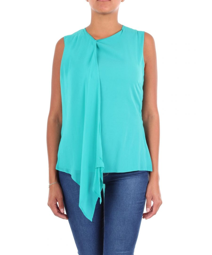 Image for JUCCA WOMEN'S J29120101574 LIGHT BLUE VISCOSE TANK TOP