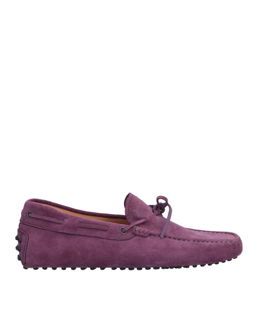 Image for Tod's Purple Leather Loafers
