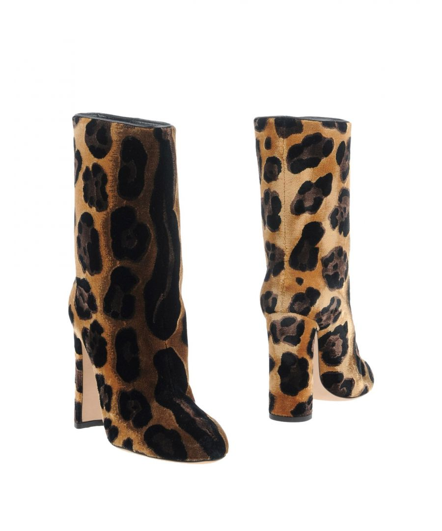 Image for Dolce & Gabbana Brown Print Velvet Boots