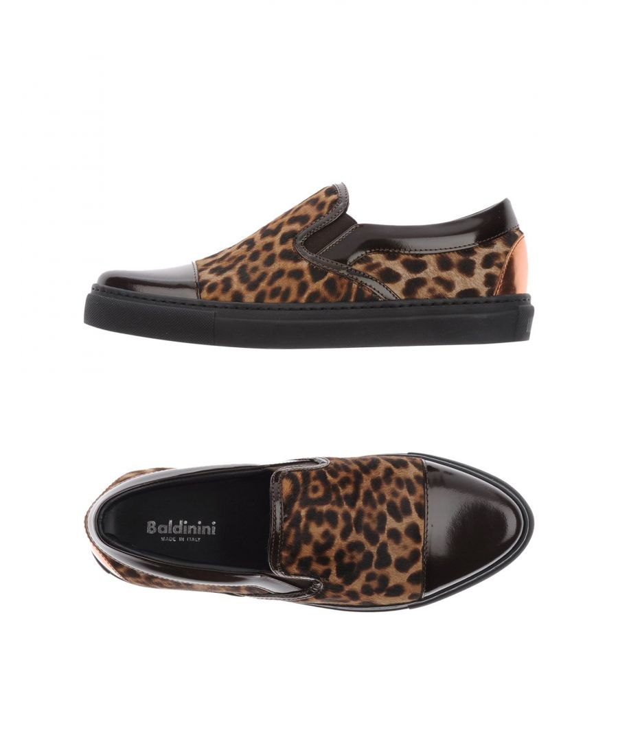 Image for Baldinini Dark Brown Leopard Print Leather Loafers