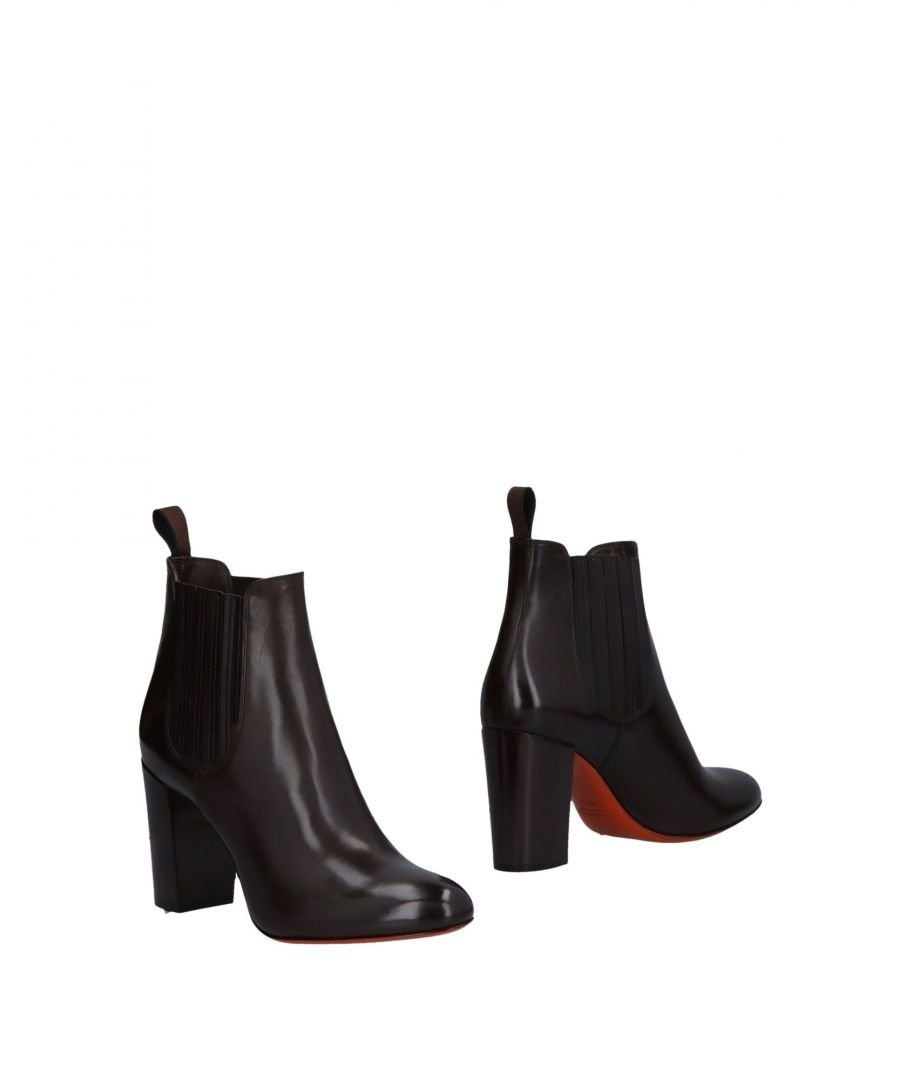 Image for Santoni Dark Brown Leather Ankle Boots