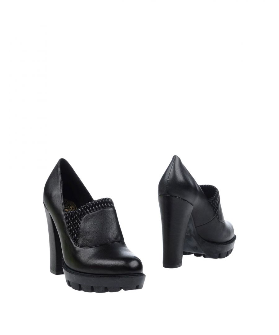 Image for Scervino Street Black Leather Heeled Loafers