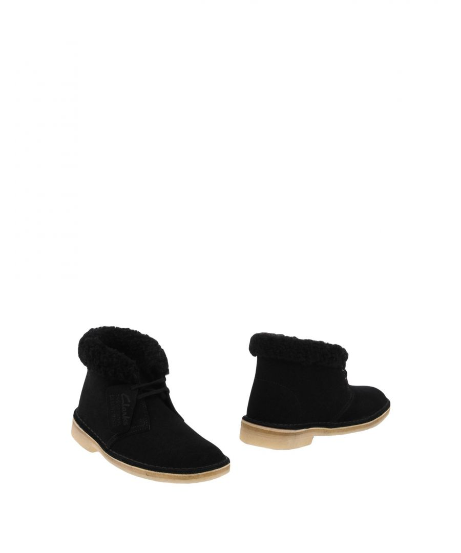Image for Clarks Originals Black Shearling Ankle Boots