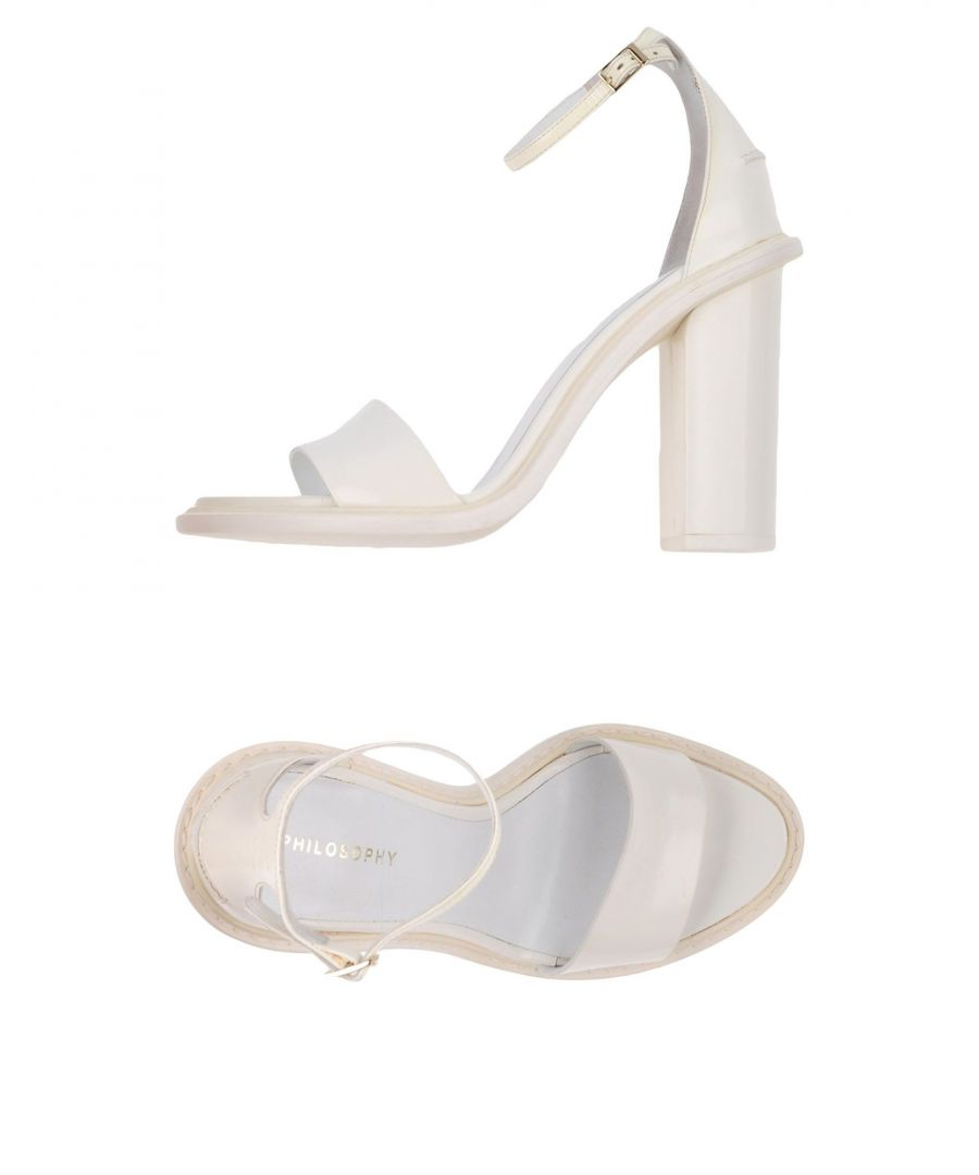 Image for Philosophy Di Alberta Ferretti White Leather Heeled Sandals