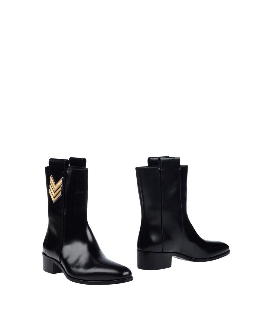 Image for Dsquared2 Black Leather Ankle Boots