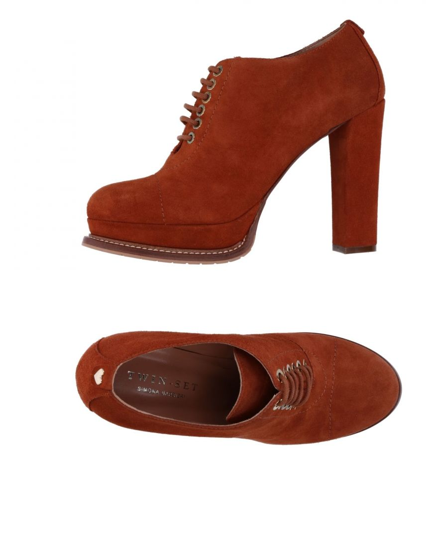 Image for Twinset Brown Leather Lace Up Boots