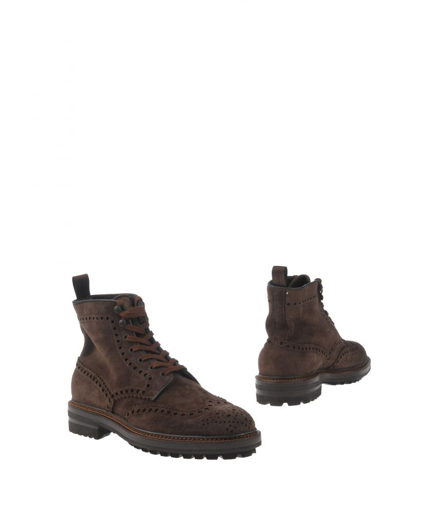 Image for Santoni Dark Brown Leather Boots