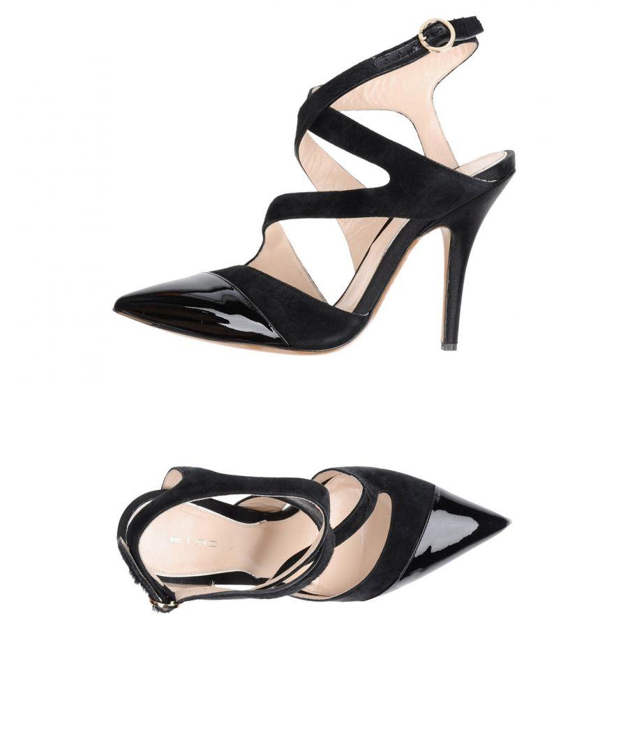 Image for Etro Black Leather Slingback Heels