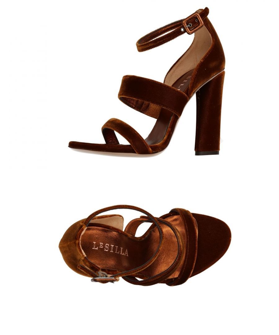 Image for Le Silla Brown Velvet Heels
