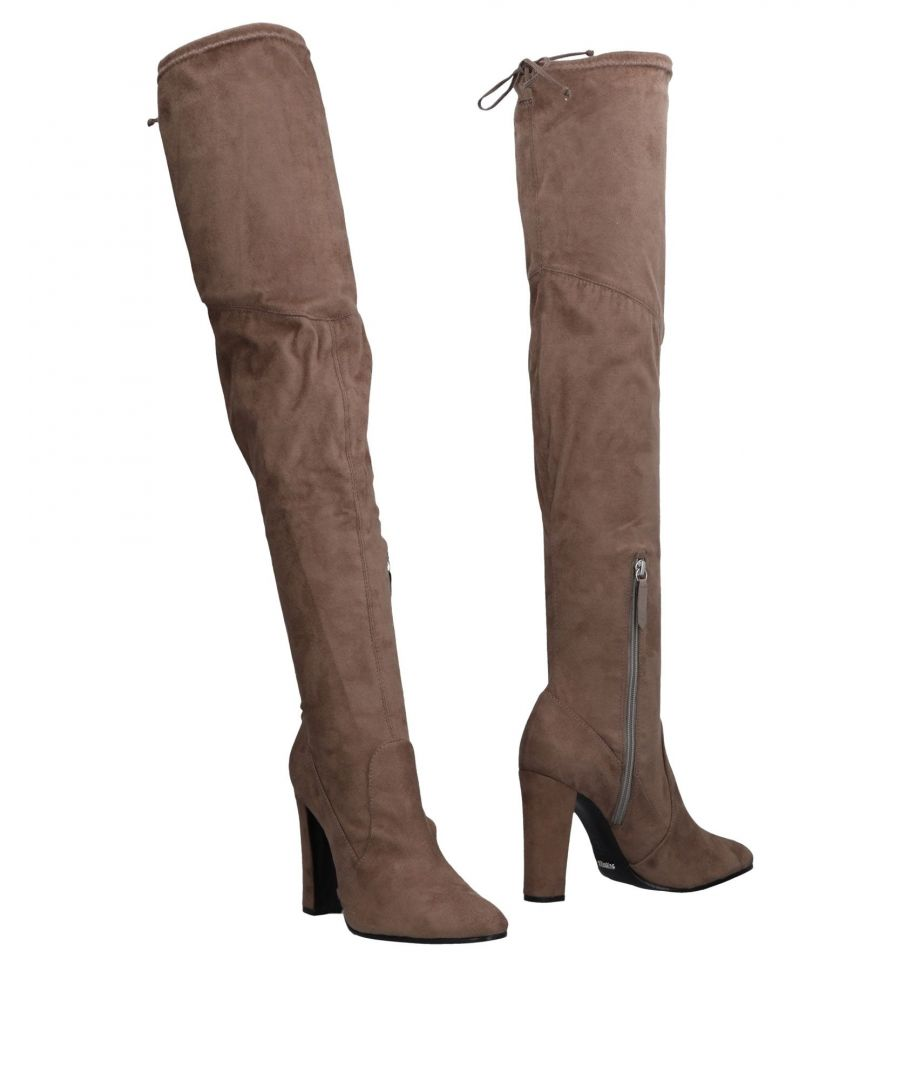Image for Schutz Khaki Leather Over The Knee Boots