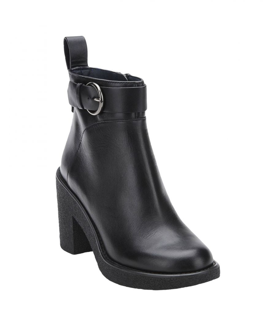 Image for Jil Sander Navy Black Calf Leather Ankle Boots