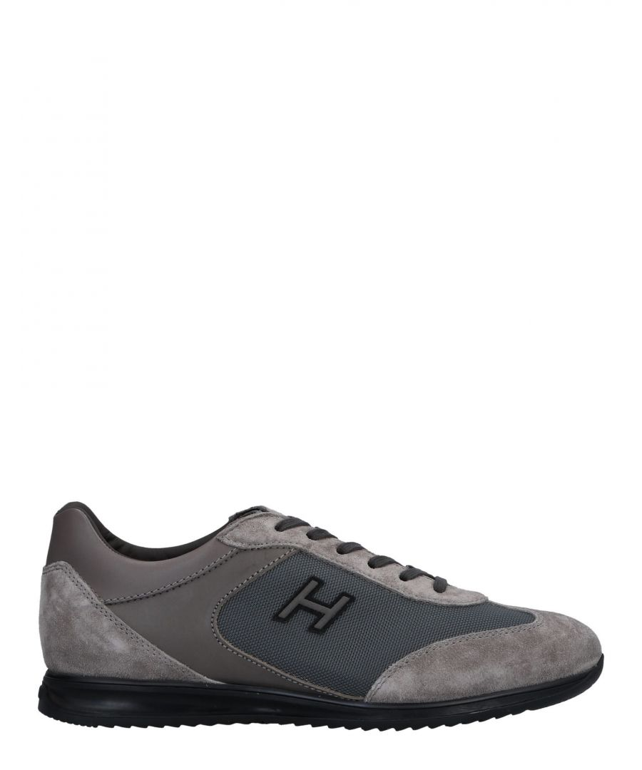 Image for Hogan Light Grey Leather Sneakers