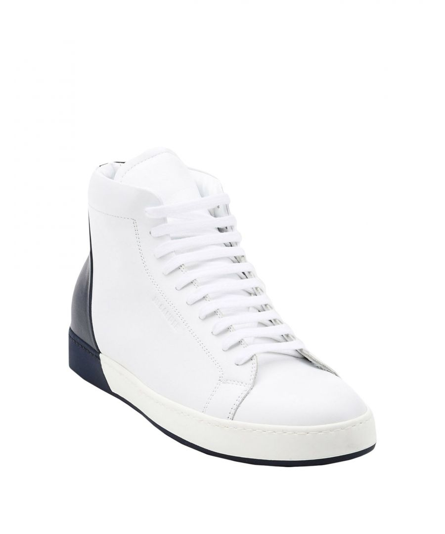 Image for Jil Sander White Calf Leather Sneakers