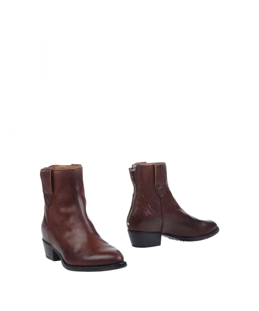 Image for Moma Brown Leather Ankle Boots
