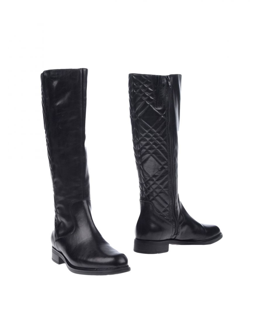 Image for Bagatt Black Leather Knee High Boots