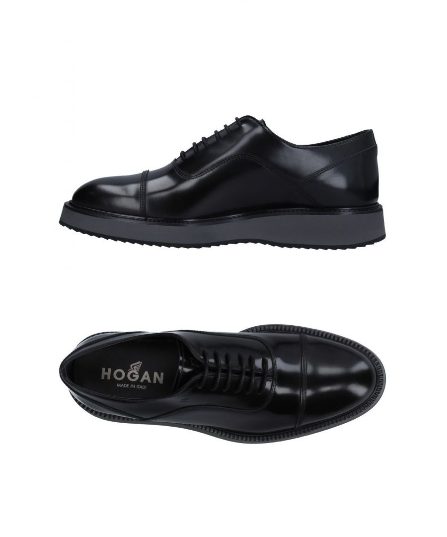Image for Hogan Black Leather Lace Up Shoes
