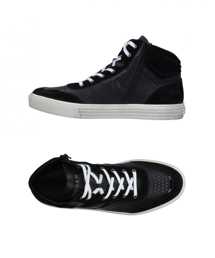 Image for Hogan Rebel Black Leather Sneakers