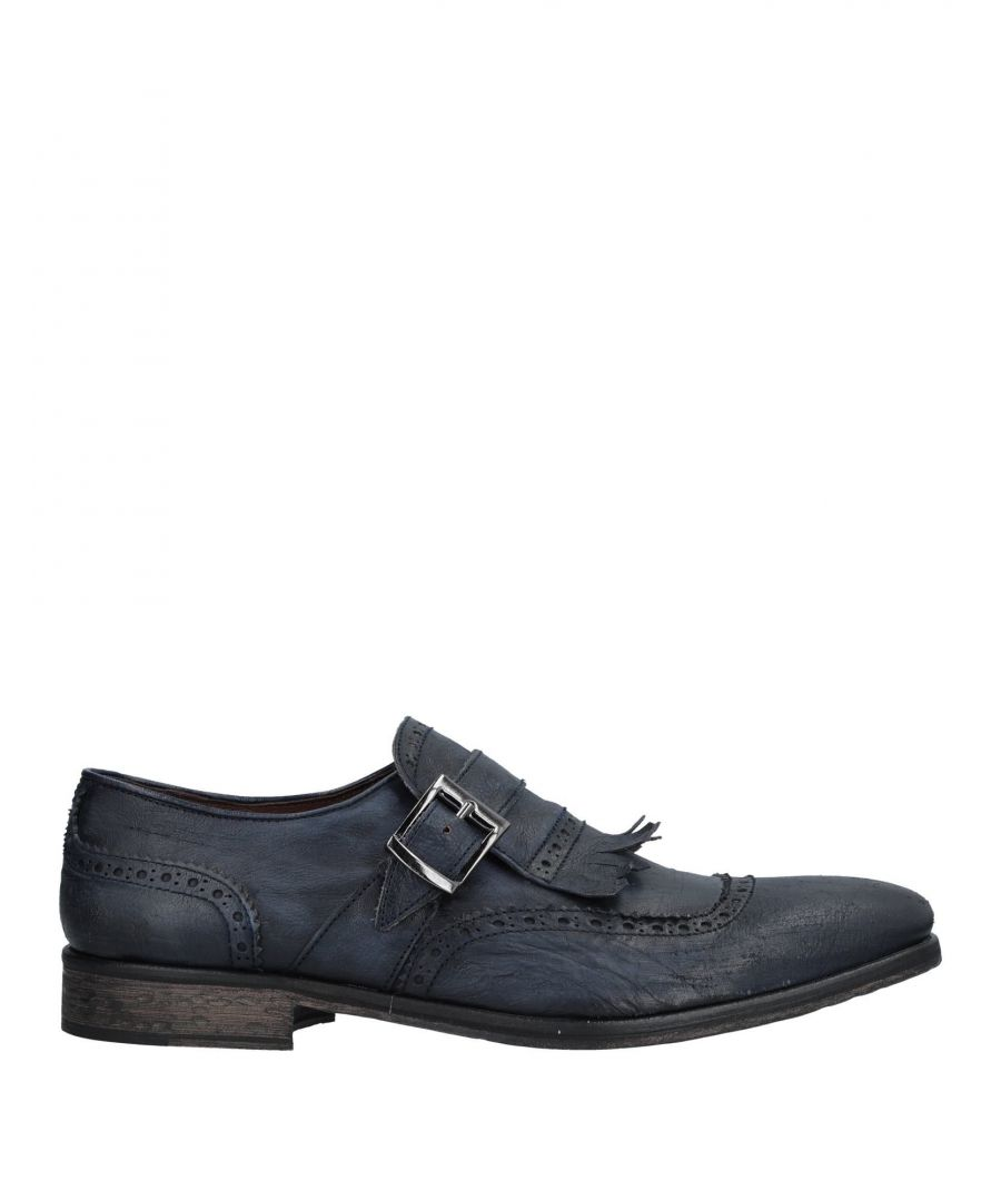 Image for Daniele Alessandrini Dark Blue Leather Brogues